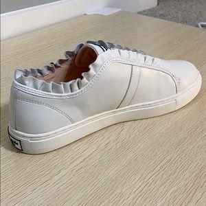NWT in box! kate spade Lance Ruffle Sneakers white